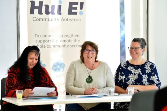 Hui E! Community Aotearoa, Pania Coote, Sandy Thompson, Rochelle Stewart-Allen